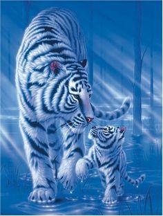 Ravensburger 163823 puzzle tigre blanc promenade 1500 pièces