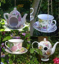 Landhausstil Rosen Vogeltranke Futterhaus Vogelhaus Kaffeekanne Tasse Teekanne Ebay Vogelhaus Futterhaus Diy Geschirr