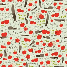 ! Kill Apple Pattern.  by nach   I'll keel you! This is awesome!