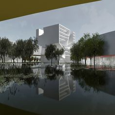 Qingdao Culture and Art Center / Steven Holl Architects,Courtesy of Steven Holl Architects Architecture Today, Commercial Architecture, Concept Architecture, Contemporary Architecture, Landscape Architecture, Steven Holl, Win Competitions, Design Competitions, Unusual Buildings