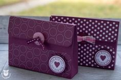 Stampin' Up! Handtaschen Mini Paper Purse, Paper Gift Bags, Paper Engineering, Envelope Punch Board, Exploding Boxes, Craft Box, Box Packaging, Goodie Bags, Small Gifts