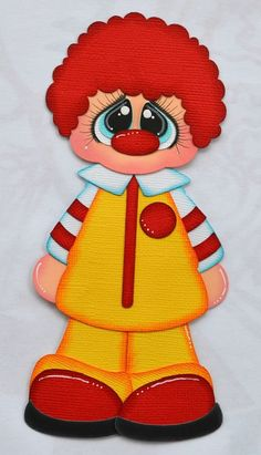 Ronald McDonald Paper Piecing for Premade Scrapbook Page Layout Fast Food Scrapbook Page Layouts, Scrapbook Pages, Mcdonalds, Ronald Mcdonald, Paper Punch Art, Free Adult Coloring Pages, Paper Craft Supplies, Scrapbook Embellishments, Scrapbook Paper Crafts