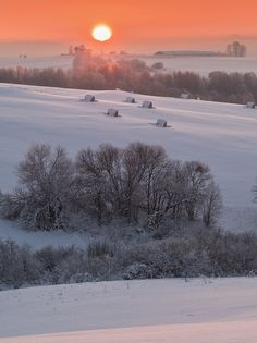 Gorgeous and peaceful. Winter Pictures, Nature Pictures, Beautiful Pictures, Nature Landscape, Winter Landscape, Winter Scenery, Winter Sunset, Winter Love, Winter Snow