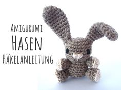 This is a free crochet pattern for a little Amigurumi crochet bunny. Not only for Easter a welcomed guest and . Crochet Bunny Pattern, Plush Pattern, Crochet Patterns Amigurumi, Baby Knitting Patterns, Crochet Baby, Free Crochet, Stuffed Toys Patterns, Crochet Projects, Lana