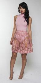 Romantic Elegant Black Sleeveless Lace Spandex Polyester round neck Slim Evening & Party Dresses