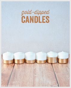 Today we're sharing an incredibly easy DIY to add some glimmer to your Thanksgiving table! Supplies: white candles of any shape or size, painter's tape, and metallic spray paint. Directions: 1. Tap...