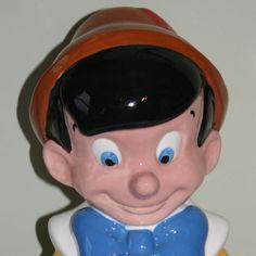 Pinocchio cookie jar by Treasure Craft.