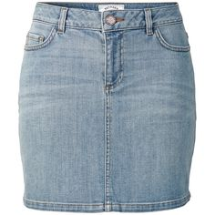 Fat Face Denim Wash Skirt, Light Denim ($58) ❤ liked on Polyvore featuring skirts, pocket skirt, blue denim mini skirt, denim mini skirt, zipper skirt and distressed denim mini skirt