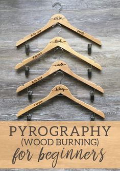 Pyrography (wood burning) for beginners