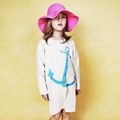 Mini Rodini Penguin Anchor Dress-poppys closet