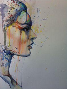 Shelley Swain. Watercolour portrait. May 2013 www.shelleyswain.com