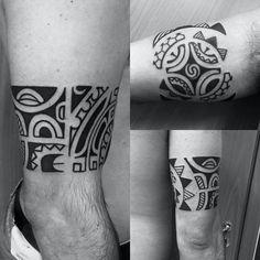 Free hand marquesan tattoo #respecttattooart #mauriziodalessandro #tribalartist