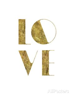 size: Giclee Print: Love Gold by Brett Wilson : Artists This exceptional art print was made using a sophisticated giclée printing process, which deliver pure, rich color and remarkable detail. Gold Wall Art, Gold Art, Wall Collage, Framed Artwork, Gold Aesthetic, Gold Walls, Typography Prints, All You Need Is Love, Wall Prints