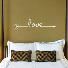 Iuhan Fashion Love Arrow Decal Living Room Bedroom Vinyl Carving Wall Decal Sticker for Home Decoration (White) #vinyldecalswall