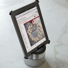Williams-Sonoma Smart Tools for iPad... this iPad kitchen stand features a bluetooth speaker and a protective cover to keep you dancing smudge-free through your favorite recipe