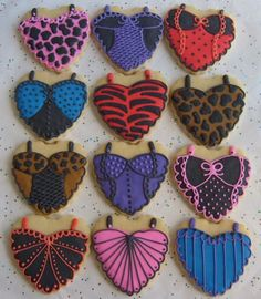 Wanna Be Naughty   Bachelorette Party Cookies  Heart by lorisplace