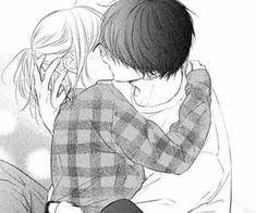 Anime Couple Kiss, Anime Kiss, Romantic Anime Couples, Romantic Manga, Anime Couples Drawings, Anime Couples Manga, Anime Couples Hugging, Anime Couples Sleeping, Manga Anime