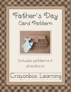 Father's Day Card pattern - Pinned by @PediaStaff – Please Visit  ht.ly/63sNt for all our pediatric therapy pins