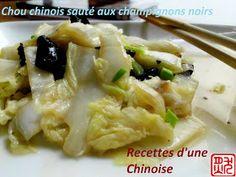 Choux chinois aux champignons noirs
