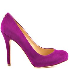 Pinkish heels Dark Purple Suede brand heels Ivanka Trump
