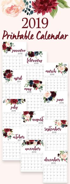 95 best Printable calendar pages images on Pinterest in 2018