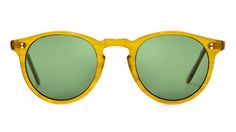 o'malley sun: amber tortoise with green c vintage glass | oliver peoples