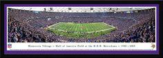 Minnesota Vikings Metrodome 50 Yard Line Panoramic Picture - Final Game
