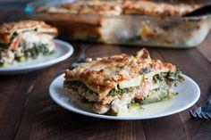 zucchini + kale lasagna