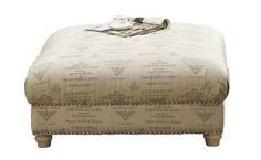Shop the Hutton Cocktail Ottoman at Woodstock Furniture & Mattress Outlet. The Script fabric and nailhead trim give this ottoman a stylish appearance. Special Financing Available.