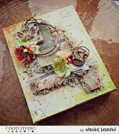 March 2017 challenge by Sandra Bernard Mixed Media Canvas, Mixed Media Art, Writer's Block, Walking In Nature, Scrapbooking, Altered Art, Creations, Doodles, March