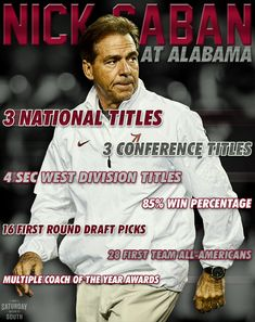 He's been there, done it...and still doing it!! ROLL TIDE ROLL!!