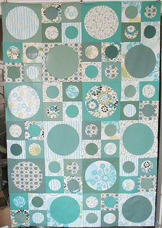 Spots quilt top by Feed Dog, via Flickr--love everything bout this quilt--easy pattern too
