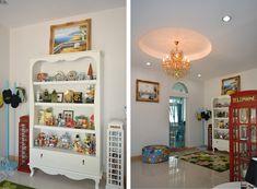 บ้านสไตล์โคโลเนียล - บ้านไอเดีย เว็บไซต์เพื่อบ้านคุณ White Houses, Liquor Cabinet, Bookcase, Shelves, Storage, Colonial, Furniture, Home Decor, White Homes