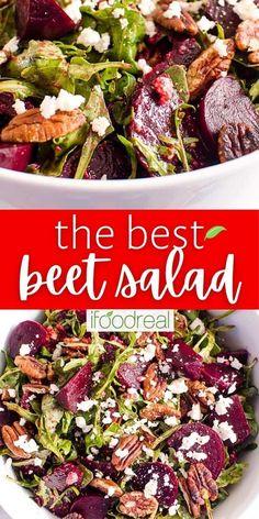 Best Beet Salad Recipe, Beet Salad Recipes, Salad Dressing Recipes, Recipes With Feta, Clean Eating Salads, Clean Eating Recipes, Healthy Eating, Cooking Recipes, Beet Salad With Feta