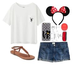 """""""Disney Tag"""" by twaayy ❤ liked on Polyvore featuring J.Crew, Apt. 9, Disney, Casetify, Uniqlo, Belk Silverworks and River Island"""