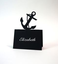 Wedding Place Cards  Anchor Pop Up Place Cards