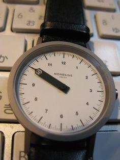 Mondaine Single Needle Watch #Mondaine #Uniqueisntit