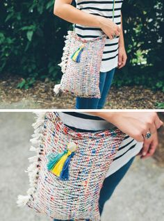 DIY tote from a placemat