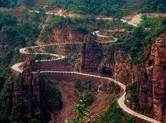 Guoliang, camino en las montañas de Taihang, China.