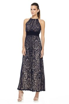 Navy Maxi Gown at Navy Maxi Gown - New Dress Arrivals at Maggy London