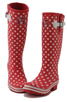 Evercreatures Polka Red Distsy Dot Wellies