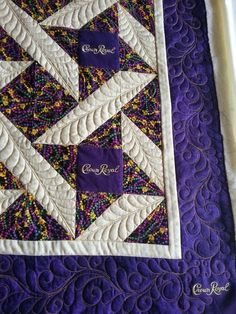 I put off doing this quilt for a LONG time! I just couldn't figure out the quilting. Well, it was worth the wait and sometimes you need to sleep a lot of nights to come up with a design! Longarm Quilting, Free Motion Quilting, Machine Quilting, Crown Royal Quilt, Crown Royal Bags, Star Quilt Patterns, Star Quilts, Scrappy Quilts, Mini Quilts