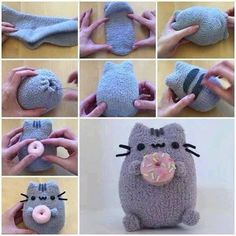 Make Your Own Pusheen Toy! Make Your Own Pusheen Toy!,Zeichnungen Make Your Own Pusheen Toy! Sock Crafts, Cat Crafts, Sewing Crafts, Diy And Crafts, Sewing Projects, Crafts For Kids, Halloween Crafts, Christmas Crafts, Paper Crafts