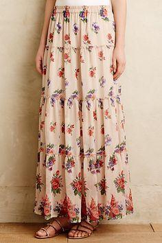 Wildflower Fields Maxi Skirt #anthropologie