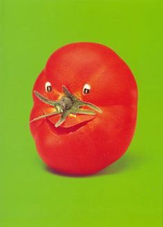 Now that is a jolly tomato! How happy is he..