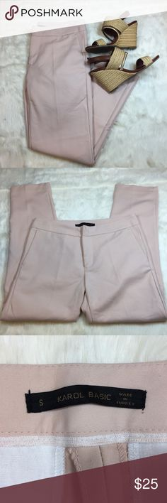 Blush Trousers Gently used pair of blush trousers. These fit like a 0-1 and the inseam is 25 inches. Very soft material that has a little stretch and very trendy color! Pants Trousers