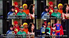 Big Bang Theory Justice League