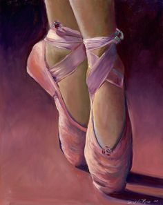 Ballet Shoes Painting by Desiree Rose - Ballet Shoes Fine Art Prints and Posters for Sale