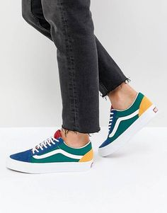 1d832a61dba Vans Old Skool Sneaker In Primary Color Block Vans Old Skool Trainers