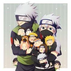 Naruto Kakashi, Anime Naruto, Naruto Teams, Team Minato, Naruto Cute, Naruto Shippuden Anime, Otaku Anime, Shikamaru, Naruto Drawings